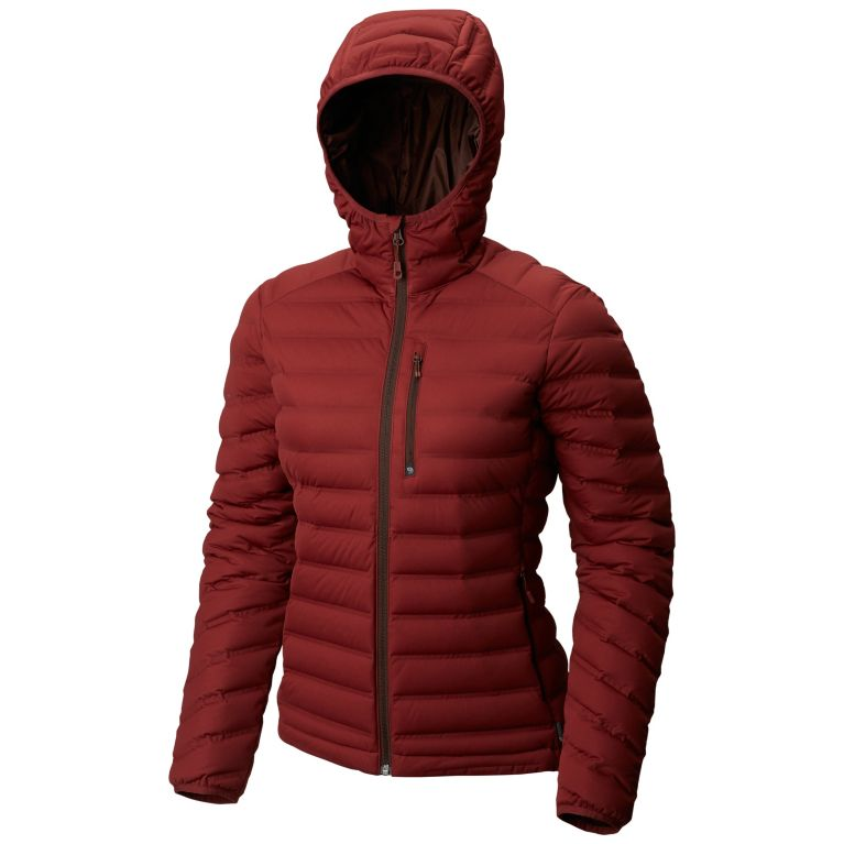 Women's strech weled down jacket with hood