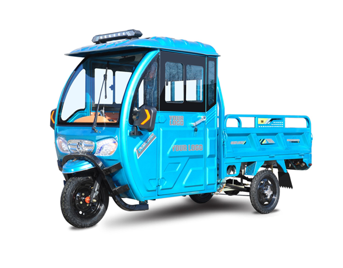 Electric Tricycle With Cabin and Passenger Seat