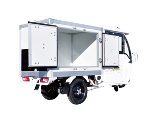 Express Electric Truck With Carriage Box For Food Deliver