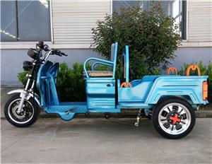 Electric Three Wheel Pedal Assist Tricycle With Foldable Seat