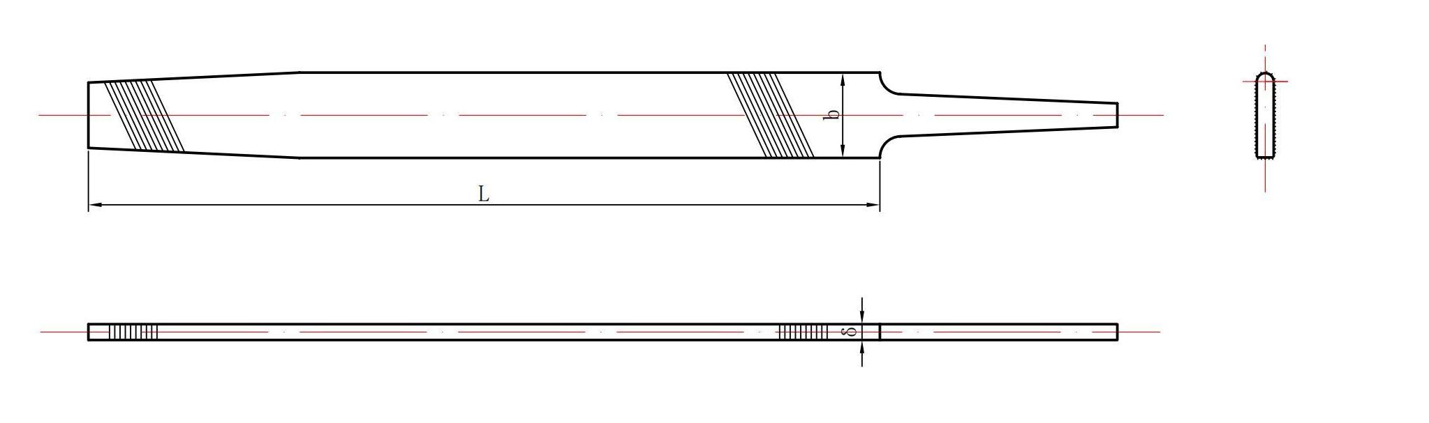 Single arc mill saw file