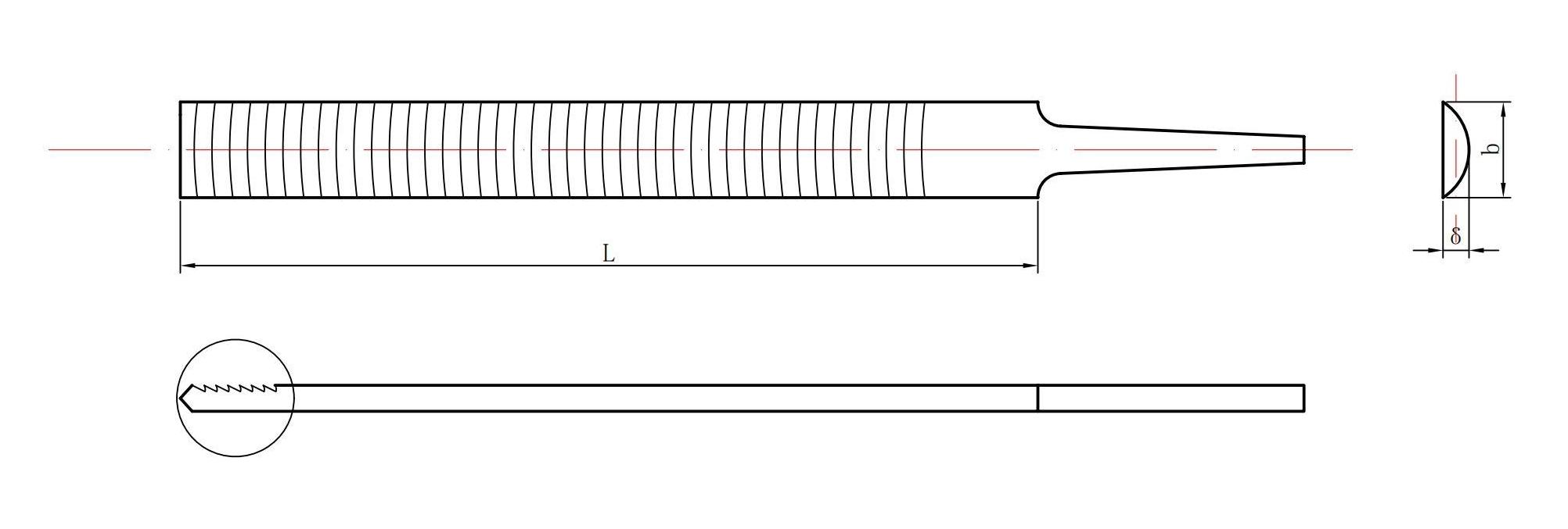 half-round aluminum file