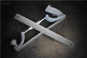 Double Hole Aluminum Plate File Holder