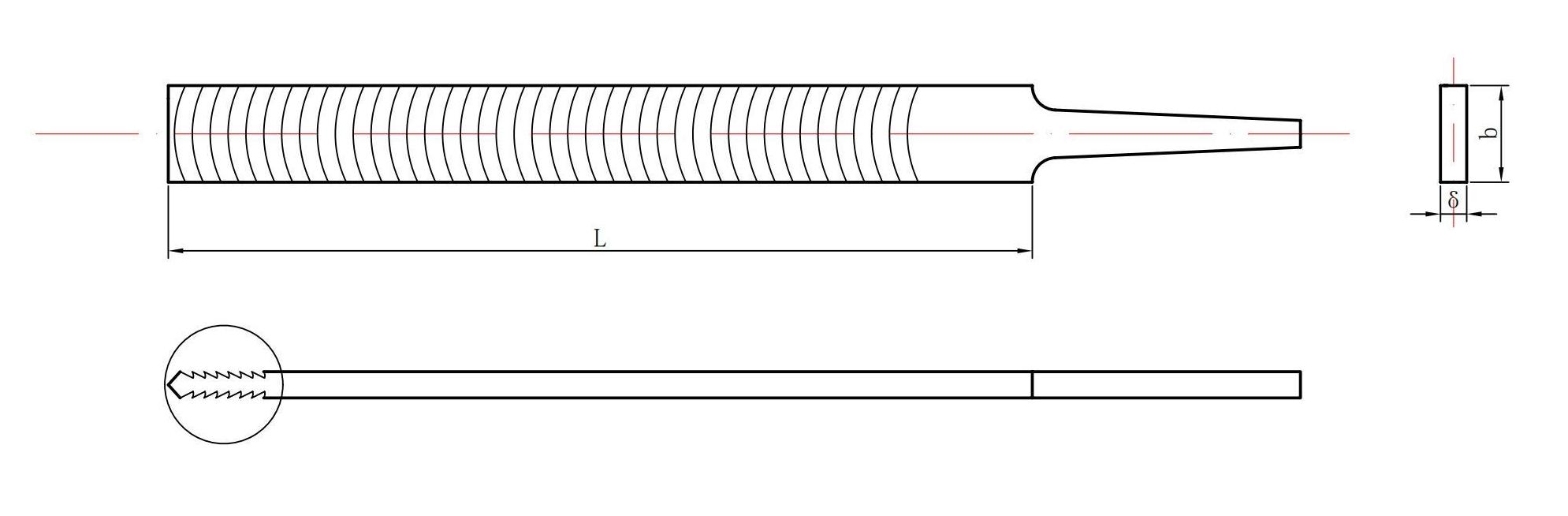 flat aluminum file