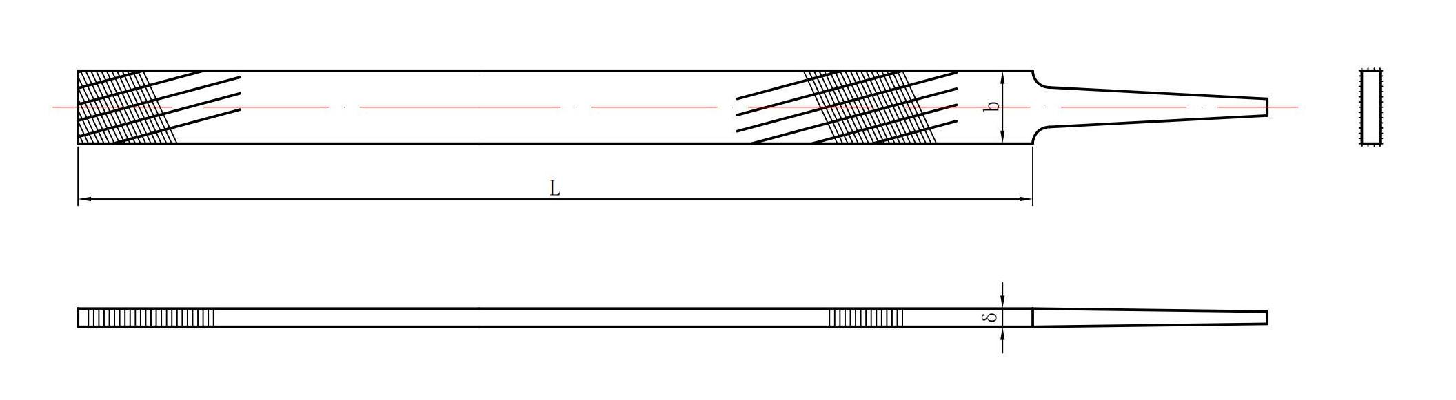 Single groove soft metal file