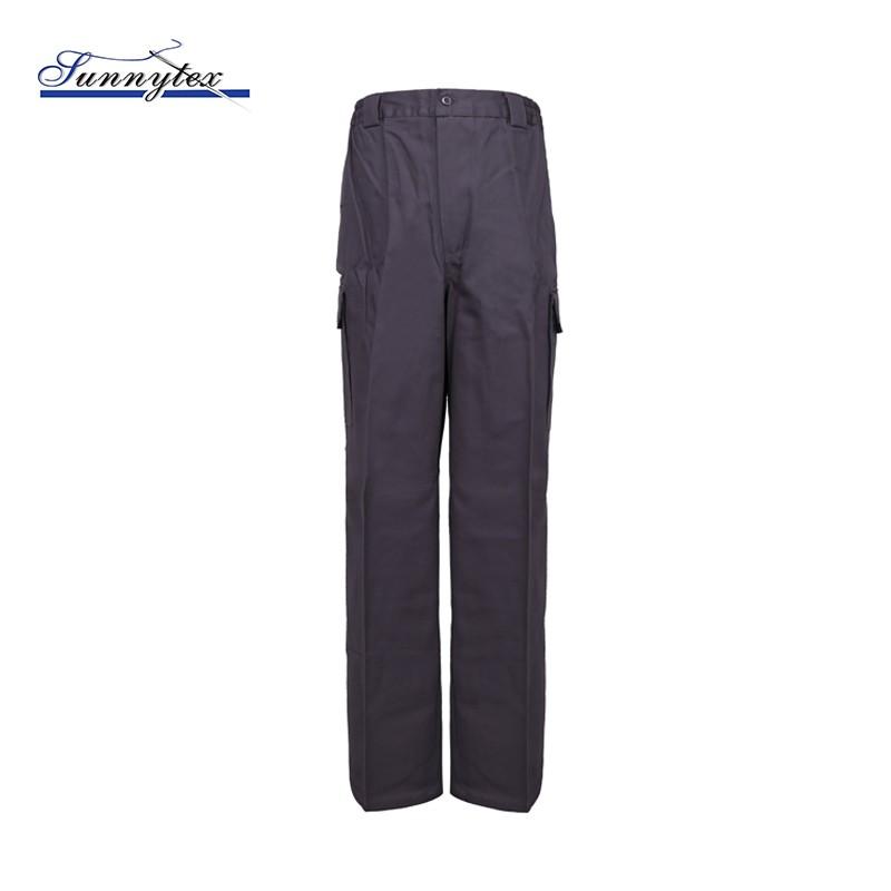 men cargo twill poly-cotton work wear uniform pant
