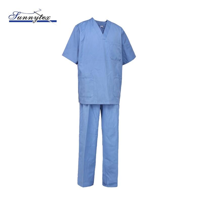 2019 Hospital Scrub Uniform Work Suit Spa Nurse Uniform 500-999 Pieces