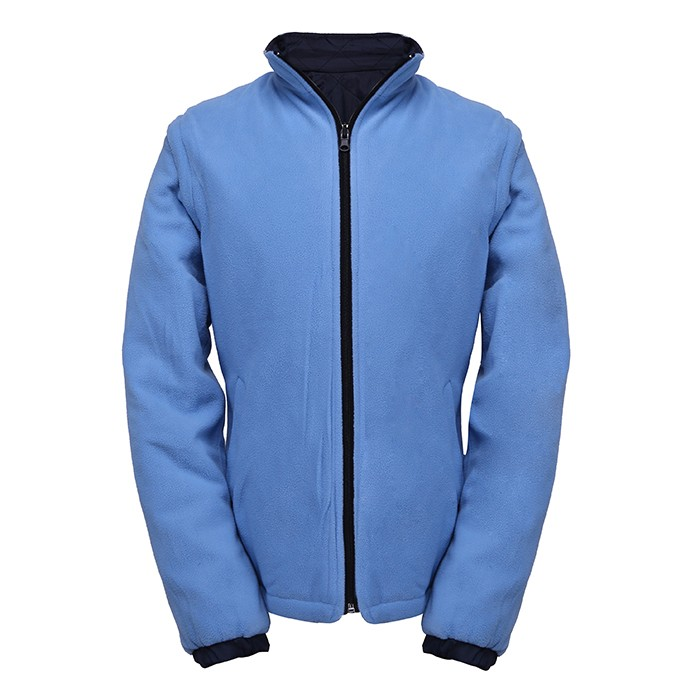 reversible jacket with demountable sleeves