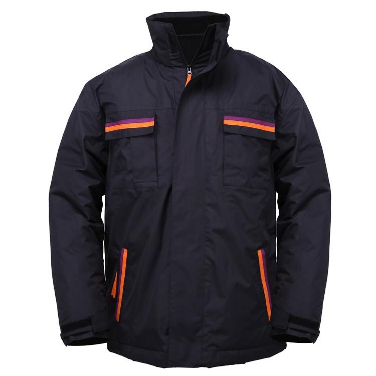 2 in 1 winter men waterproof padd jacket with polar fleece jacket inside