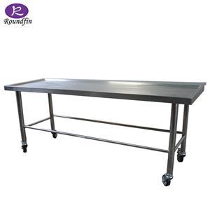 Table d'acier inoxydable d'autopsie mortuaire de chariot de dissection