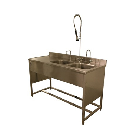 محطة تحنيط طاولة الغسيل من الفولاذ المقاوم للصدأ الجنائزية