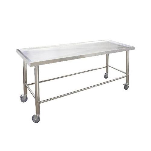 Table d'autopsie de table de dissection en acier inoxydable