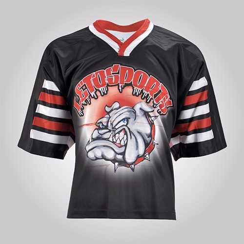 Design Your Own Sublimated Heat Transfer Digital Print Short Sleeve Lacrosse Jersey