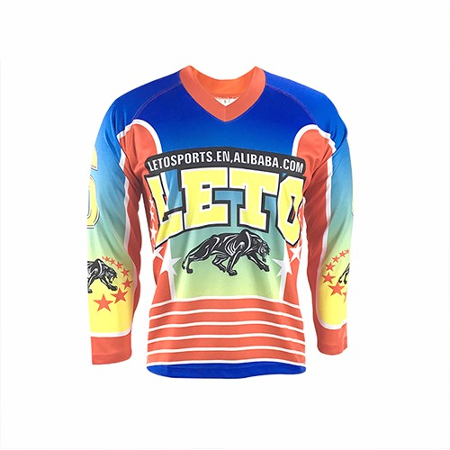 Customized Australia Practic Plain Custom Sublimated Ice Hockey Jersey