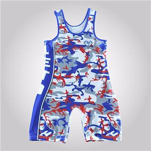 Cheap Custom Sale China Russian Men Sublimated Wrestling Singlet