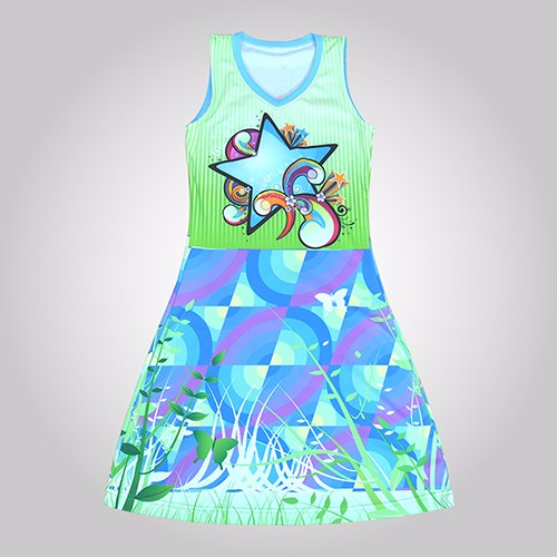 New Pattern Athletic Singlet Netball Jersey
