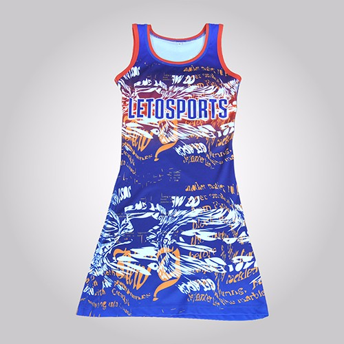 Custom Sublimation Spandex Netball Jersey