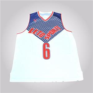 Jersey Fabric Basketball Uniform Design For Man
