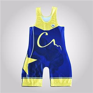 Vintage Low Cut Superman Uk Wrestling Singlet Customized