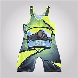 Custom Printed Mexico Cartoon Girl's Cool Youth Wrestling Singlet