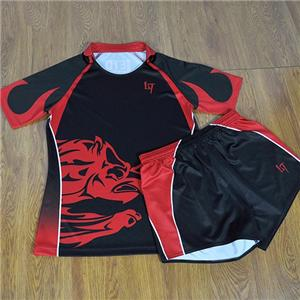 Customized Short Sleeves Rugby Football Jersey