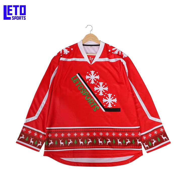 Custom Sublimated Team Ice Hockey Jerseys Team Hockey Uniforms Made in China
