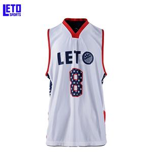 100% polyester basketball wear logo designs