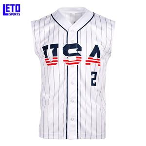 Wholesale ShirtT Casual Custom Youth Button up Baseball Jersey