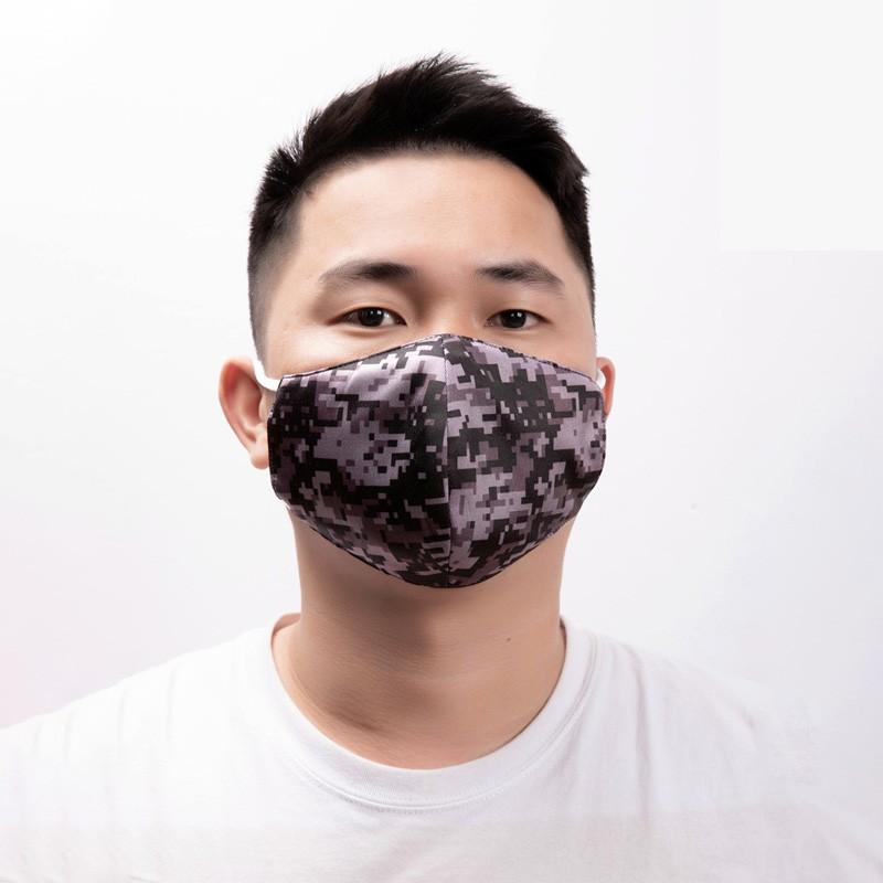antibacterial reusable black cotton face masks washable