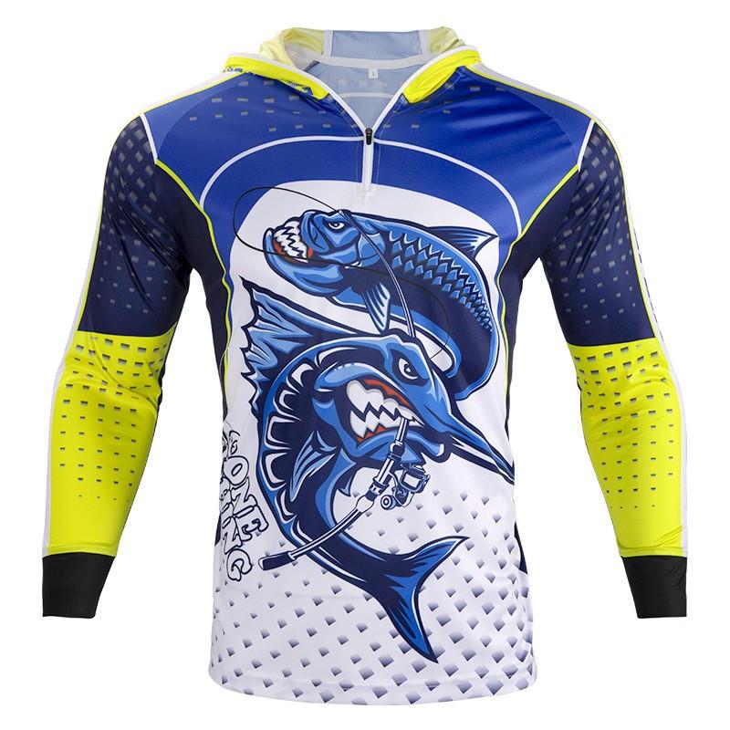 Full Zipper Hoodie Long Sleeve Fishing Shirts