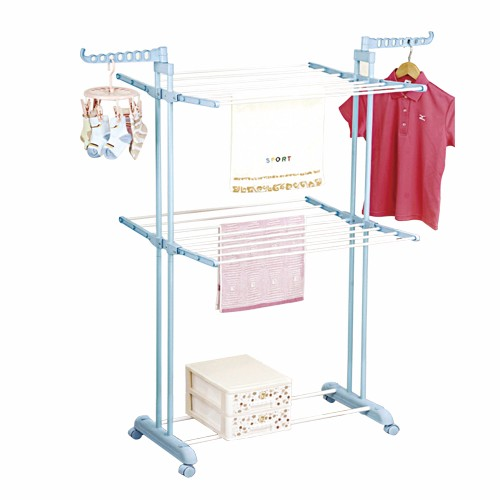 2 Tier Powder Coating Clothes Hanger
