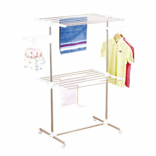 Multi Tier Stainless Steel Clothes Hanger
