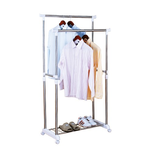 Stainless Steel Double Pole Clothes Racks