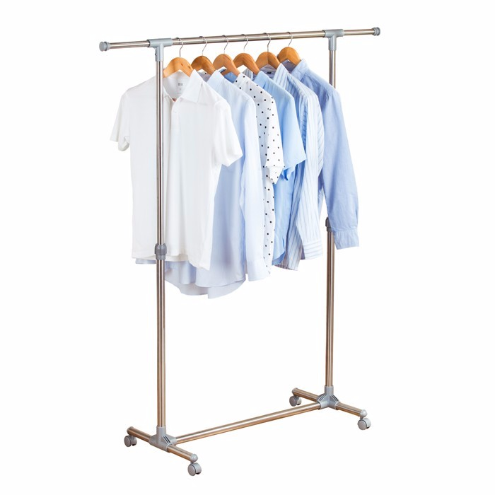 Extendable Single Pole Clothes Racks