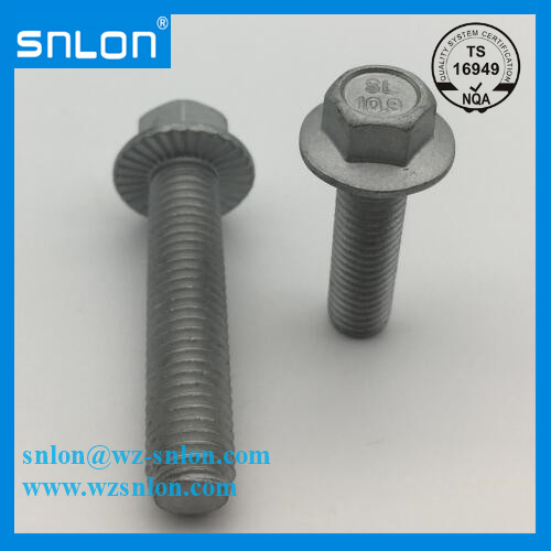Hex Bolt With Flange Serrated Din 6921 Dacromet