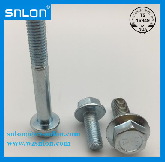 Hex Head Flange Bolt Bule White Zinc Plated
