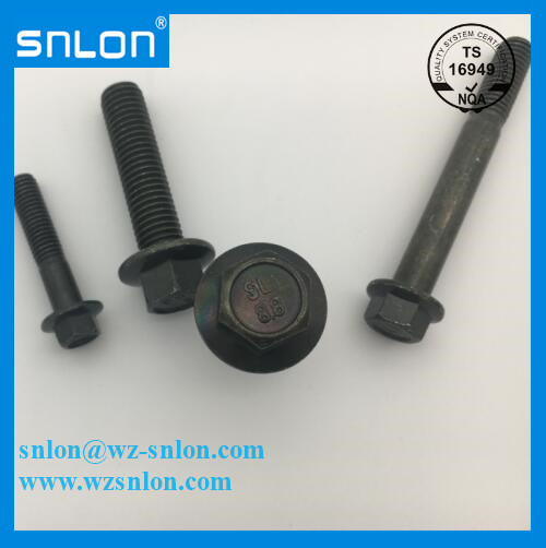 8.8 Grade Green Zinc Plated Hexagonal Flange Bolt