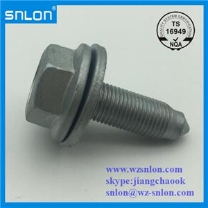 Flange Bolt With Plain Washer Sharp End