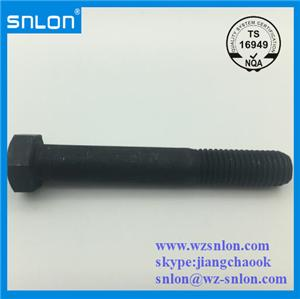 Hex Cap Screw Black Oxide Gr8.8 Gr10.9