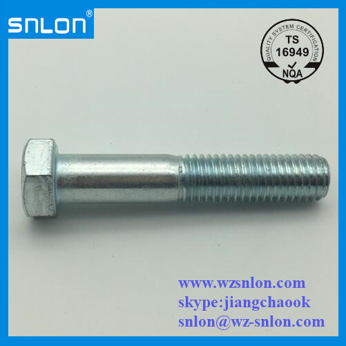 Blue White Zinc Plated Hex Bolt