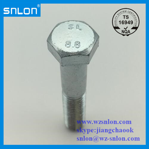 Blue White Zinc Plated Hex Bolt Manufacturers, Blue White Zinc Plated Hex Bolt Factory, Supply Blue White Zinc Plated Hex Bolt