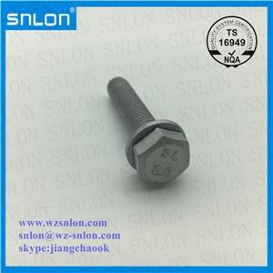 Hex Screw With Plain Washer Dacromet