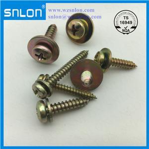 Tornillos de máquina combinados de cabeza plana de tres partes