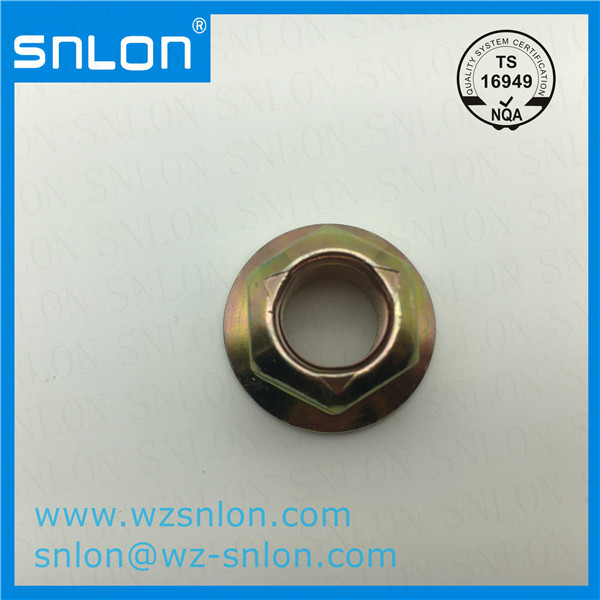 Hexagon Lock Flange Nut With Pressed Point