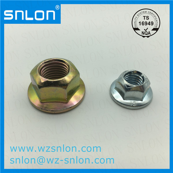 Hexagon Lock Flange Nut With Pressed Point Manufacturers, Hexagon Lock Flange Nut With Pressed Point Factory, Supply Hexagon Lock Flange Nut With Pressed Point