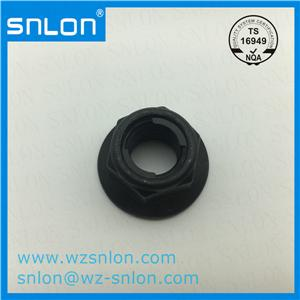Two Locking Strips Hex Flange Lock Nut
