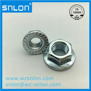 Carbon Steel Hex Flange Nut Serrated
