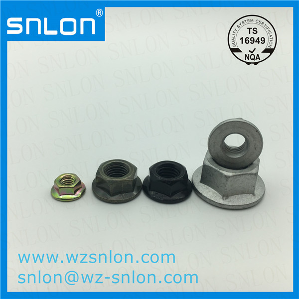 Various Color Plated Hex Flange Nut Din6923