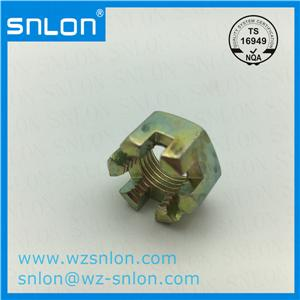 Carbon Steel Hex Slotted Nut