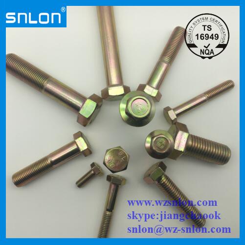 Stahl-Zink-Sechskant-Maschinenschraube